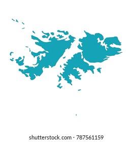 Map Falkland Islands Stock Vector 682860433 Shutterstock