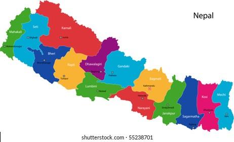 Nepal Map Images, Stock Photos & Vectors | Shutterstock