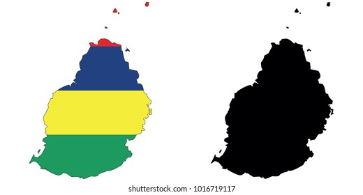 Mauritius Map Outline Images, Stock Photos & Vectors   Shutterstock