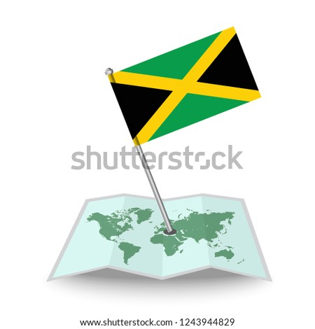 8c1e071b3 Map Flag Jamaica Isolated On White Stock Vector (Royalty Free ...