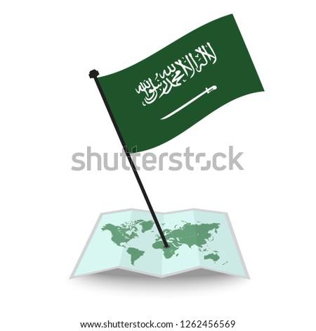 Map Flag Saudi Arabia Isolated On Stock Vector (Royalty Free ... Saudi Arabia On World Map Find on mexico world map, iraq on world map, afghanistan map, united states on world map, saudi arabia map outline, nigeria on world map, eritrea on world map, india on world map, egypt on world map, africa on world map, kuwait on world map, middle east map, china on world map, cuba on world map, brunel on world map, turkey on world map, iran on world map, syria on world map, japan on world map,