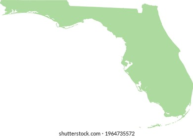 map of florida state contour vector - editable flags and maps