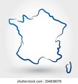 carte de france stylisée Carte France Illustration Images, Stock Photos & Vectors