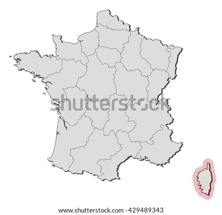 Map Of France And Corsica.Map France Corsica Stock Vector Royalty Free 429489343 Shutterstock