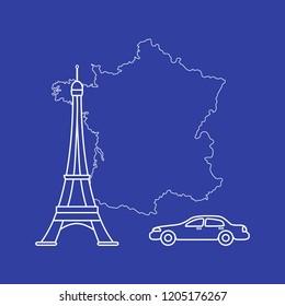 Auto Landkarte Freiheit Stock Vektorgrafiken Bilder Und
