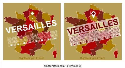 Versailles Map Of France.Versaille Stock Vectors Images Vector Art Shutterstock