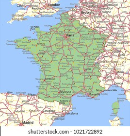 Map Of France In English.Map France Vector Images Stock Photos Vectors Shutterstock