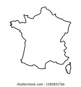 map of french landmark country