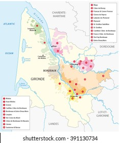 Bordeaux Wine Map Images Stock Photos Vectors Shutterstock