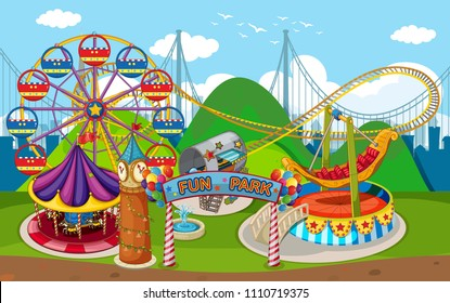 A Map of Fun Park illustration