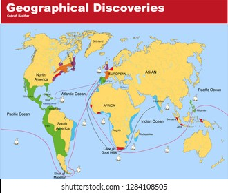 Map of Geographical Discoveries