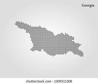 Map Of Georgia Eastern Europe.Detailed Map Of Country Of Georgia Images Stock Photos Vectors