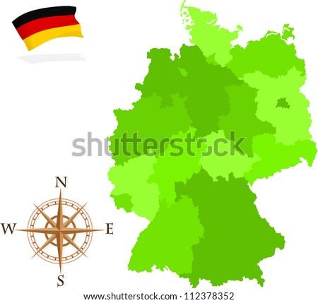 Map German States Stock Vector (Royalty Free) 112378352 - Shutterstock