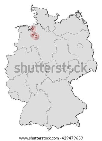 Map Of Bremen Germany.Map Germany Bremen Stock Vector Royalty Free 429479659 Shutterstock