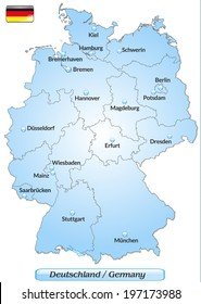 Deutschlandkarte Hauptstadte Images Stock Photos Vectors