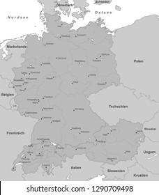 Germany Austria Switzerland Map Stock Vectors, Images & Vector Art ...