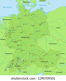 Map Of Germany And Switzerland.Imagenes Fotos De Stock Y Vectores Sobre Detailed Germany Map