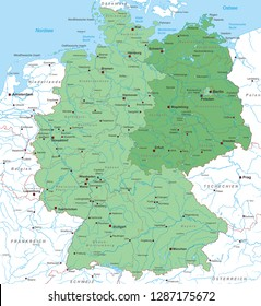 Map of Germany (with german inscription)