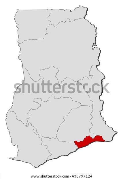 Map Ghana Greater Accra Stock Vector (Royalty Free) 433797124 on khartoum sudan map, addis ababa map, nairobi kenya map, ghana world map, greater accra map, ghana street map, osu ghana map, malabo equatorial guinea map, legon ghana map, kampala-uganda map, grand trunk road india map, lagos nigeria map, ethiopia yemen map, ghana flag map, cape town south africa map, ghana geological map, west africa map, abidjan ivory coast map, tripoli libya map,
