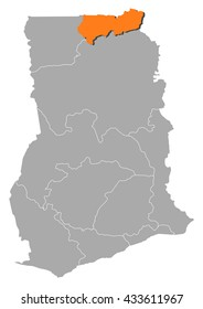 Map - Ghana, Upper East