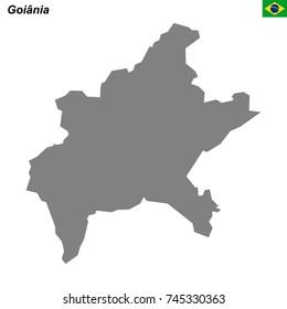 Goiania Map Images Stock Photos Vectors Shutterstock