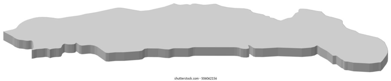 Map - Gorontalo (Indonesia) - 3D-Illustration