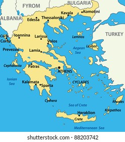 map of Greece - vector illustration
