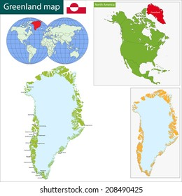Greenland map images stock photos vectors shutterstock map of the greenland drawn with high detail and accuracy gumiabroncs Images