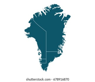 Greenland Region Map Retro Style Brown Stock Vector Royalty Free