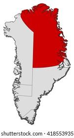 Map - Greenland, Northeast Greenland National Park