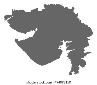 Map - Gujarat (India)