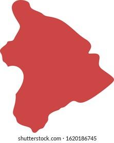 Map of Hawaii, USA. Vector