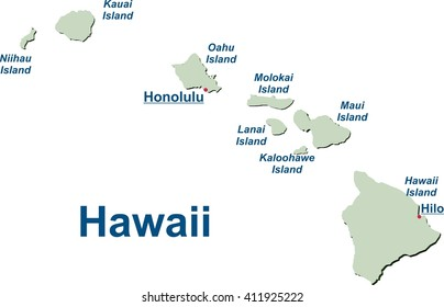 Map of the Hawaiian Islands