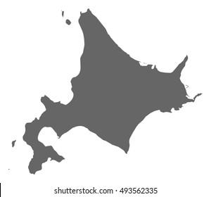 Map - Hokkaido (Japan)