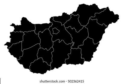 Map - Hungary
