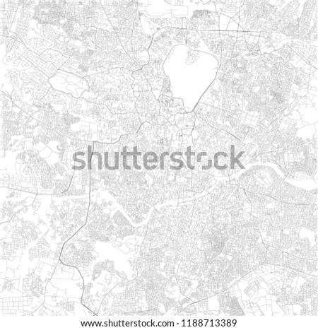 Hyderabad On India Map.Map Hyderabad Telangana Satellite View Black Stock Vector Royalty