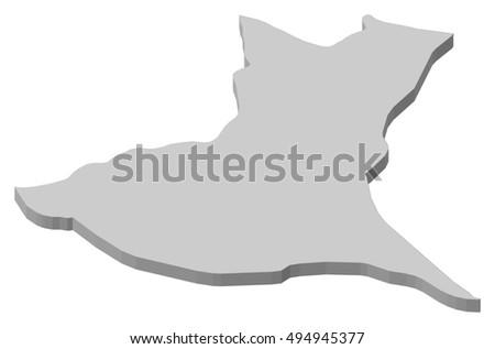 Ibaraki Japan Map.Map Ibaraki Japan 3 D Illustration Stock Vector Royalty Free