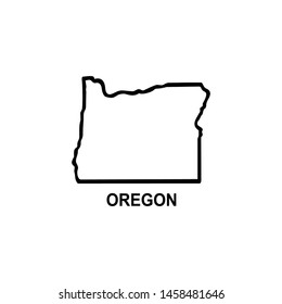 Map icon design of Oregon State of the United States