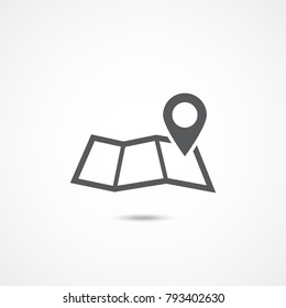 Map icon on white background