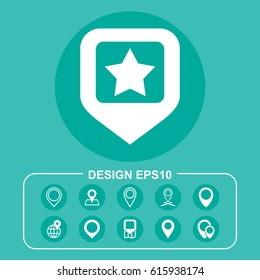 Map Icon Vector flat design style
