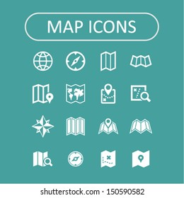 Map icons collection