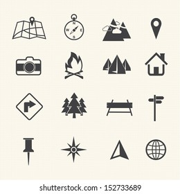 Map icons set, Navigation