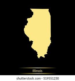 map of Illinois
