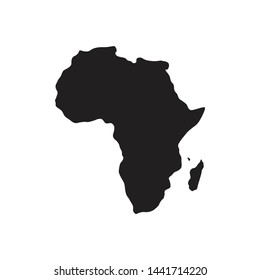 map illustration and african island in the form of black vectors and solid colors