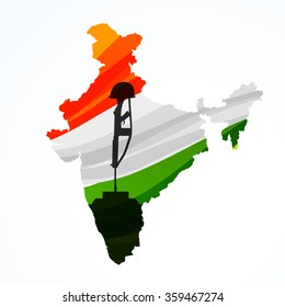 map of india with amar jyoti