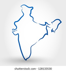 map of india. map concept