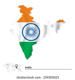 India Map Flag.India Flag Map Images Stock Photos Vectors Shutterstock