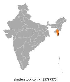 Map - India, Mizoram