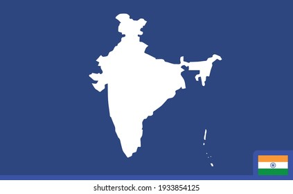 Map of india, vector design.