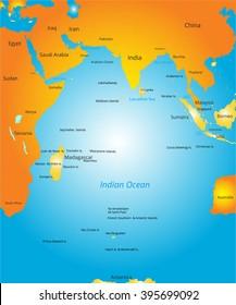 map of Indian ocean region